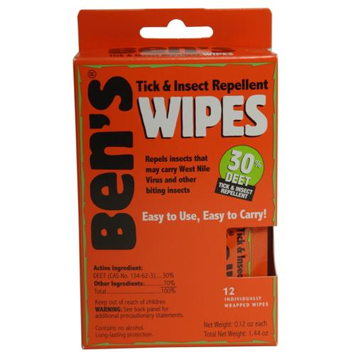 Tender Ben's 30 Deet Travel Size Wipes