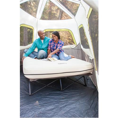 Inflatable Tent Furniture: Coleman Queen Cot Airbed With Side Tables With 4D Combo Pump