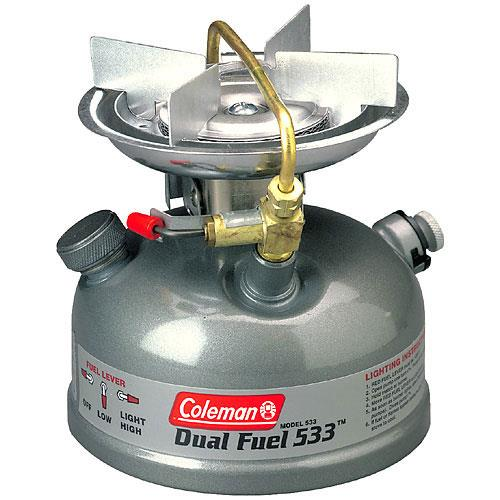photo: Coleman Sportster Dual Fuel II liquid fuel stove