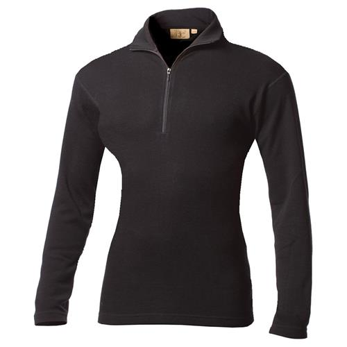 photo: Minus33 Women's 100% Wool Midweight 1/4 Zip base layer top