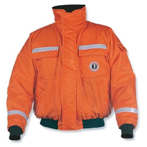 Mustang Survival Classic Flotation Bomber Jacket ~ with Reflective Tape