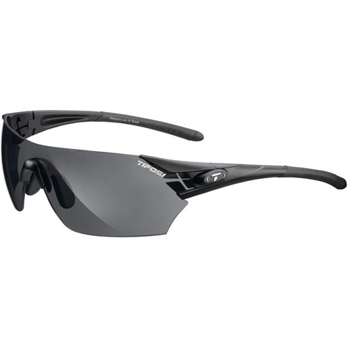 Tifosi Podium Interchangeable Sunglasses Matte Black - Smoke/AC Red/Clear Lenses