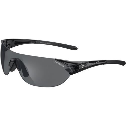 Tifosi Podium S Interchangeable Sunglasses Gloss Black - Smoke/AC Red/Clear Lenses