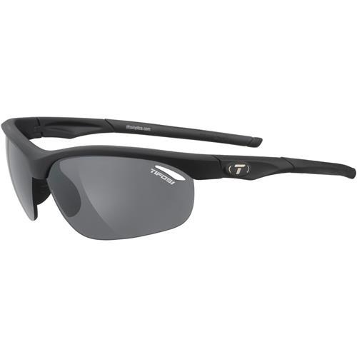 Tifosi Veloce Interchangeable Sunglasses Matte Black - Smoke/AC Red/Clear Lenses