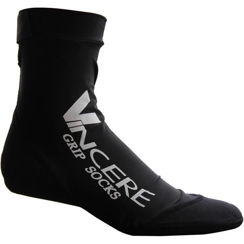 VINCERE Grip Socks Soft Soled Booties Black Medium